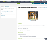 Garden Humanities: Apple Cider