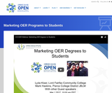 Marketing OER Programs to Students