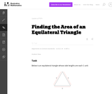 Finding the Area of an Equilateral Triangle