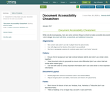 Document Accessibility Cheatsheet