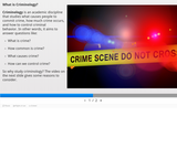 1.1 What is Criminology
