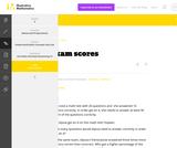 6.RP Exam scores