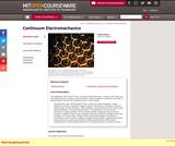 Continuum Electromechanics, Spring 2009