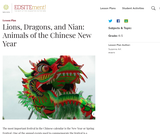 Lions, Dragons, and Nian: Animals of the Chinese New Year