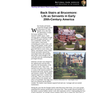 Back Stairs at Brucemore: Life as Servants in Early 20th Century America