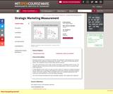 Strategic Marketing Measurement, Fall 2002