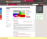 A Gentle Introduction to Programming Using Python, January IAP 2011