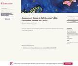 Assessment Design in EL Education's ELA Curriculum, Grades 3-8 (2012)