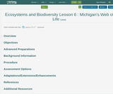 Ecosystems and Biodiversity Lesson 6 : Michigan's Web of Life