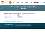 App Inventor Maker Cards