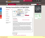 Planning, Communications, and Digital Media, Fall 2004