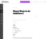 2.NBT Many Ways to do Addition 2