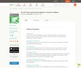 Algebra 1 - TI Activities (Teacher's Edition)
