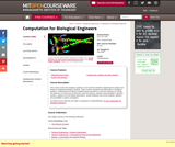 Computation for Biological Engineers, Fall 2006