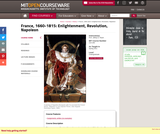 France, 1660-1815: Enlightenment, Revolution, Napoleon, Spring 2011