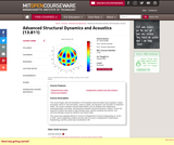 Advanced Structural Dynamics and Acoustics (13.811), Spring 2004