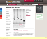 Advanced Fluid Mechanics, Fall 2013