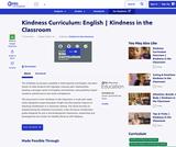 Kindness Curriculum: English