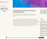Learning That Lasts: Chapter 5: Teaching in and Through the Arts