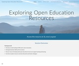 Exploring Open Education Resources