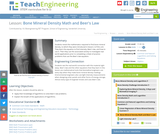 Bone Mineral Density Math and Beer's Law
