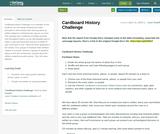 Cardboard History Challenge