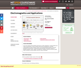 Electromagnetics and Applications, Spring 2009