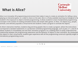 Getting Started with Programming using Alice 3