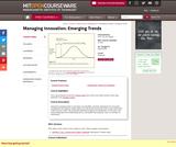 Managing Innovation: Emerging Trends, Spring 2005