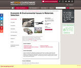 Economic & Environmental Issues in Materials Selection, Fall 2005