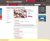 Public Finance and Public Policy, Fall 2010
