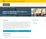 Additional Materials: Civil rights in a Trump Era teach-out – The Civil Rights Litigation Schoolhouse