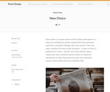 Teach Design: New Choice