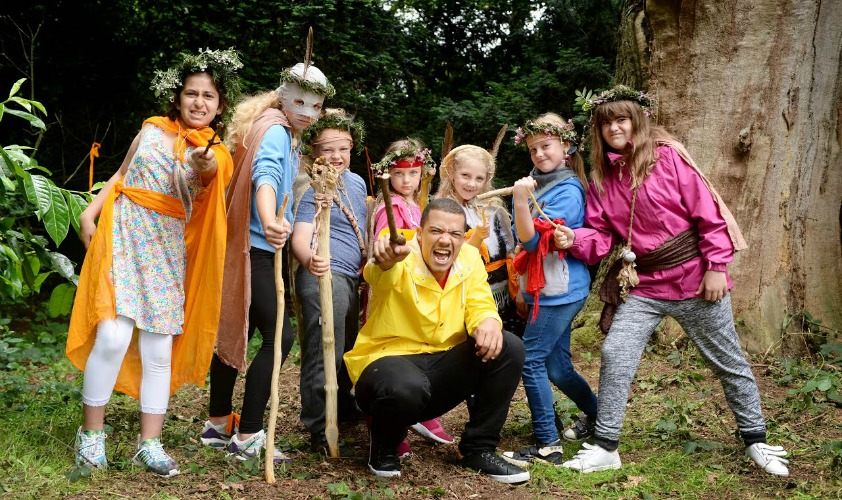 EDITORIAL USE ONLY Actor Raleigh Ritchie, who plays Grey Worm in Game of Thrones, launches The National Trust's ultimate list of 50 things for children to do before they turn 11 3/4, National Trust Osterley Park, Middlesex. PRESS ASSOCIATION Photo. Picture date: Sunday July 10, 2016. Photo credit should read: Doug Peters/PA Wire