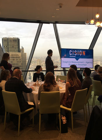 Alex Hunter welcomes guests to this exclusive agency briefing