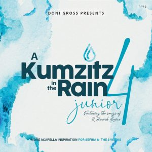 Cover for Kumzit in the rain 4. Blue with raindrops