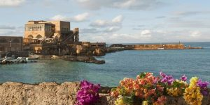 Coastal beach of caesarea Israel