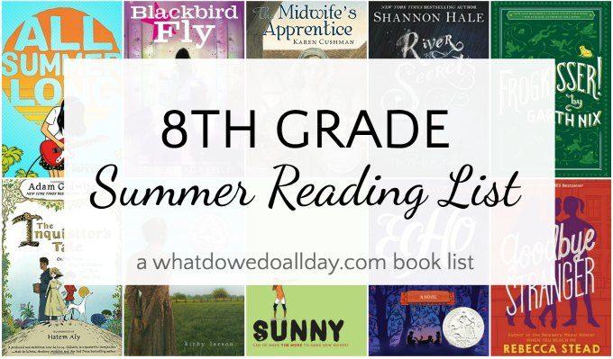 Fabulous Summer 8th Grade Reading List Agradeaheadcom Math Englis