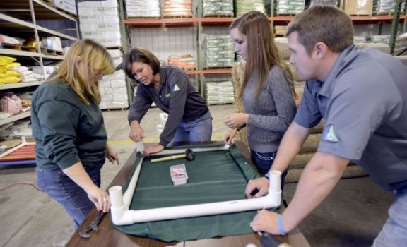 Putting PVC to Good Use: Ewing Helps Build Dog Beds for Shelter