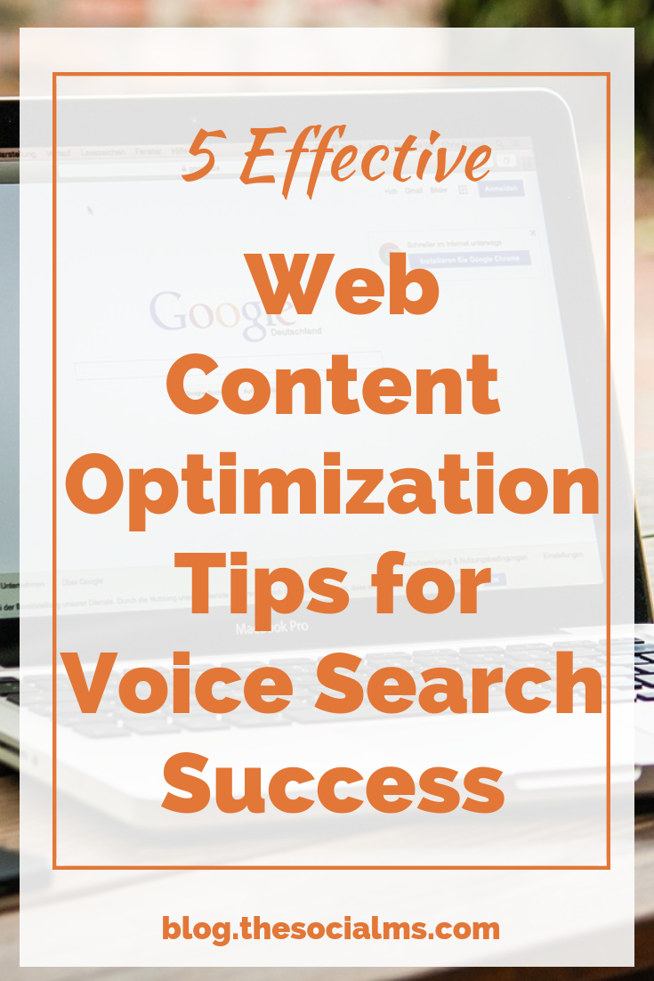 5 Effective Web Content Optimization Tips for Voice Search Success