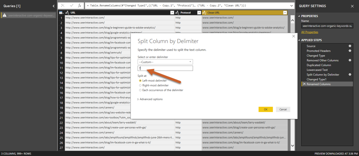 SEO Power BI Data Cleaning Checklist for URLs | Seer