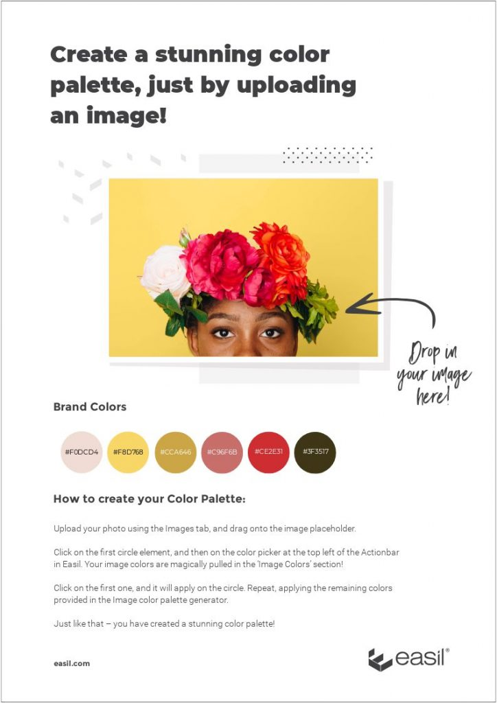 How to create a stunning color palette, with just an image - Easil