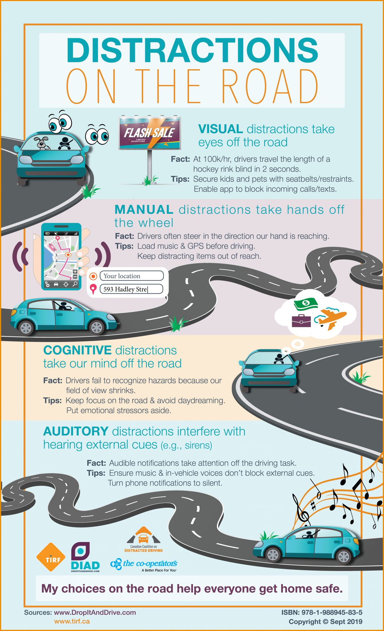 Understanding & Preventing Distractions on the Road: #Infographic | DropItAndDrive
