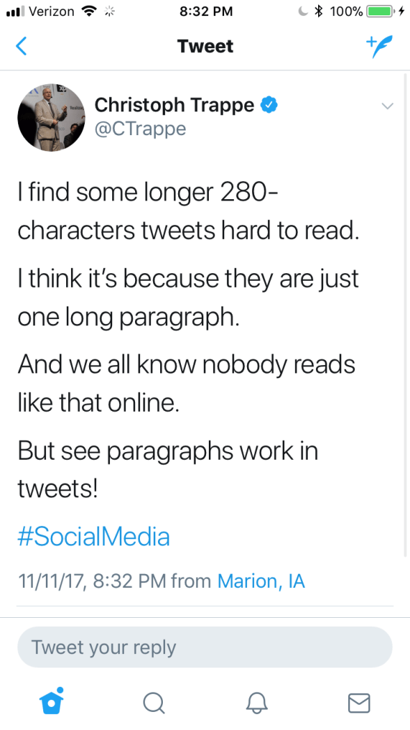 22cb632b09 How to use the 280 characters per tweet on Twitter! - The Authentic  Storytelling Project
