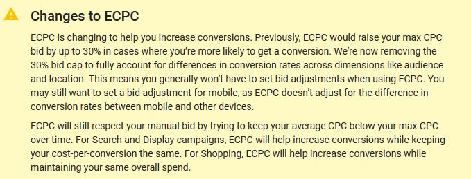 Google Announces Major Changes to Enhanced CPC Bidding