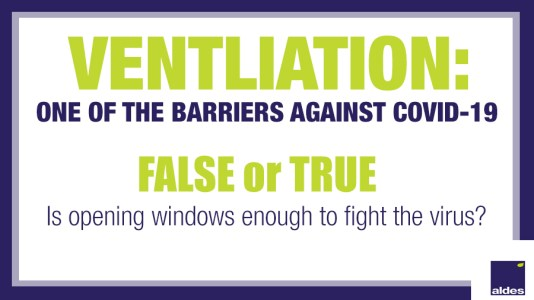 VENTILATION: One of the barriers against COVID-19 | Aldes Canada