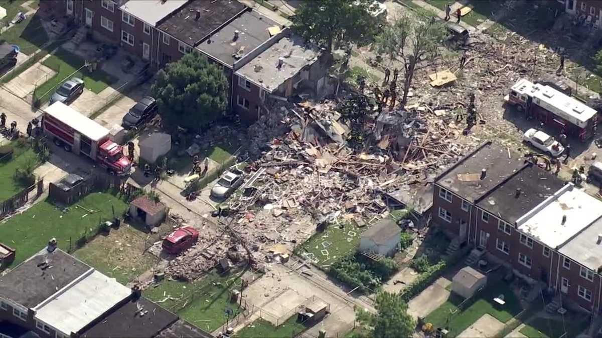 Natural gas buildup from unpermitted HVAC work cause of Baltimore explosion