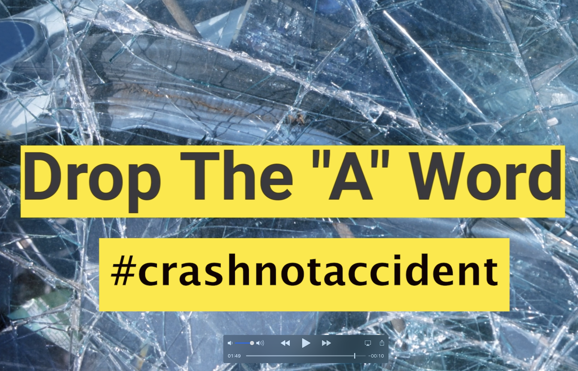 """Drop The """"A"""" Word: Crashes Caused by Distracted, Drunk and Drugged Driving Are NOT Accidents"""
