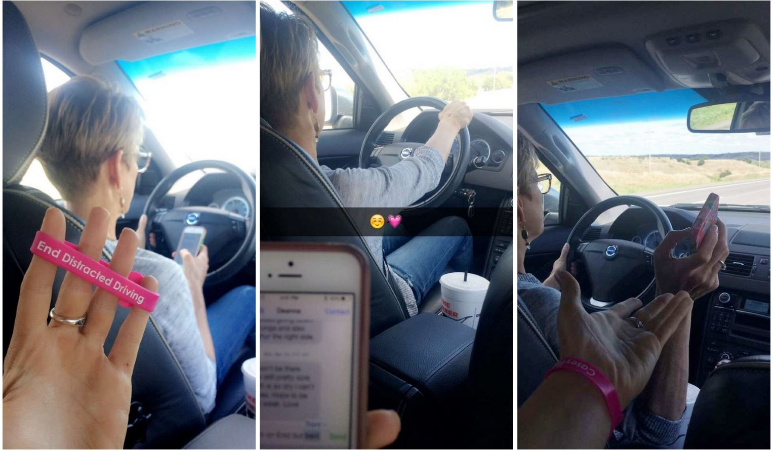 Oklahoma Student Stops Mom From Texting While Driving  