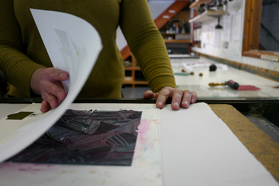Printmaking courses at the Badger Press